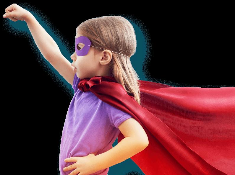 Маленька дівчинка супергерой